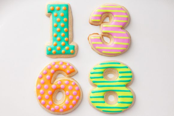 Baked Happy - Polka Dot & Stripe Birthday Numbers
