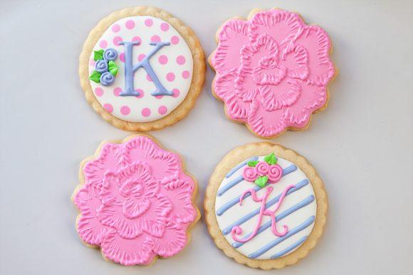 Baked Happy - Peonies & Rosebud Initials