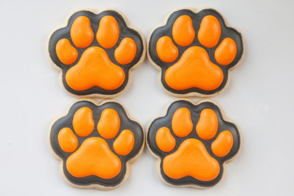 Baked Happy - Green Bulldog Pawprints